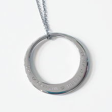 Load image into Gallery viewer, Handstamped large circle necklace | allure style