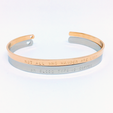 Load image into Gallery viewer, Handstamped Cuff Bracelet (large) | allure style