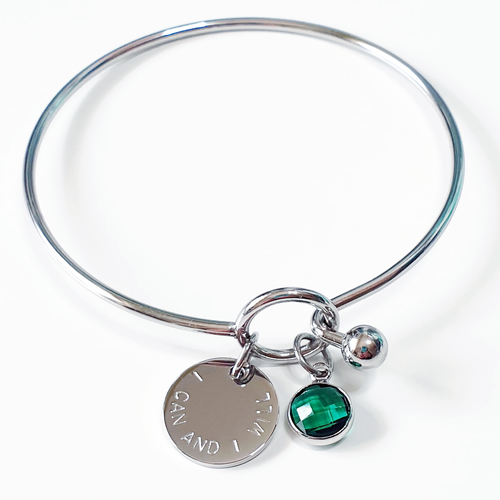 Handstamped Loop Bracelet