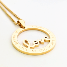 Load image into Gallery viewer, Handstamped Love necklace | allure style