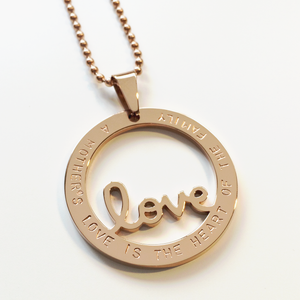 Handstamped Love necklace | allure style