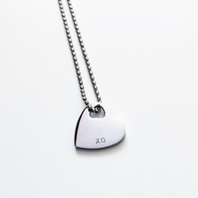 Load image into Gallery viewer, Handstamped Mini Heart Necklace | allure style