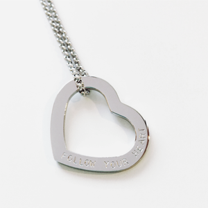 Handstamped Love Heart Necklace | allure style