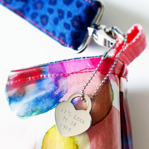 Padlock heart bag charm | it's cool to be kind | allure style