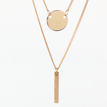 Load image into Gallery viewer, Handstamped Petite Disc & Tag Necklace Set | allure style