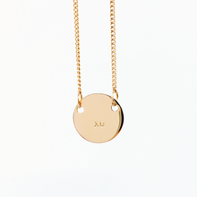 Load image into Gallery viewer, Handstamped Petite Disc Necklace | allure style