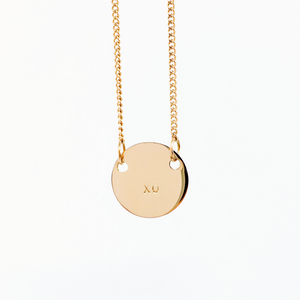 Handstamped Petite Disc Necklace | allure style