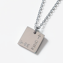 Load image into Gallery viewer, Be Kind | Handstamped Petite Square Necklace | allure style
