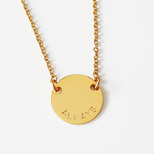 Load image into Gallery viewer, Handstamped Petite Disc Necklace