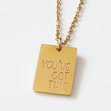 Load image into Gallery viewer, petite rectangle necklace | you've got this | allure style