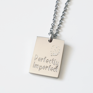 Handstamped Petite Rectangle Necklace