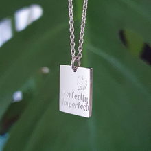 Load image into Gallery viewer, Handstamped Petite Rectangle Necklace