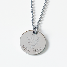 Load image into Gallery viewer, Handstamped Mini Circle Disc Necklace (clearance sale)