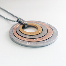 Load image into Gallery viewer, Handstamped Quad Stack Necklace | allure style