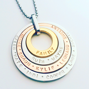 Handstamped Quad Stack Necklace | allure style