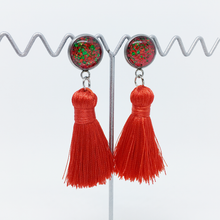 Load image into Gallery viewer, Christmas tassel earrings - allure style
