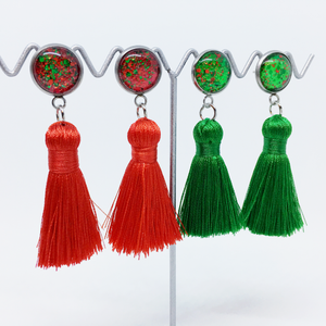 Christmas tassel earrings - allure style