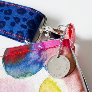 Handstamped Circle Bag Charm