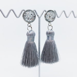 Mini Silver tassel earrings | allure style