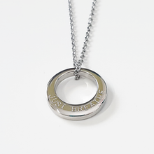 Load image into Gallery viewer, Handstamped Small Circle Necklace