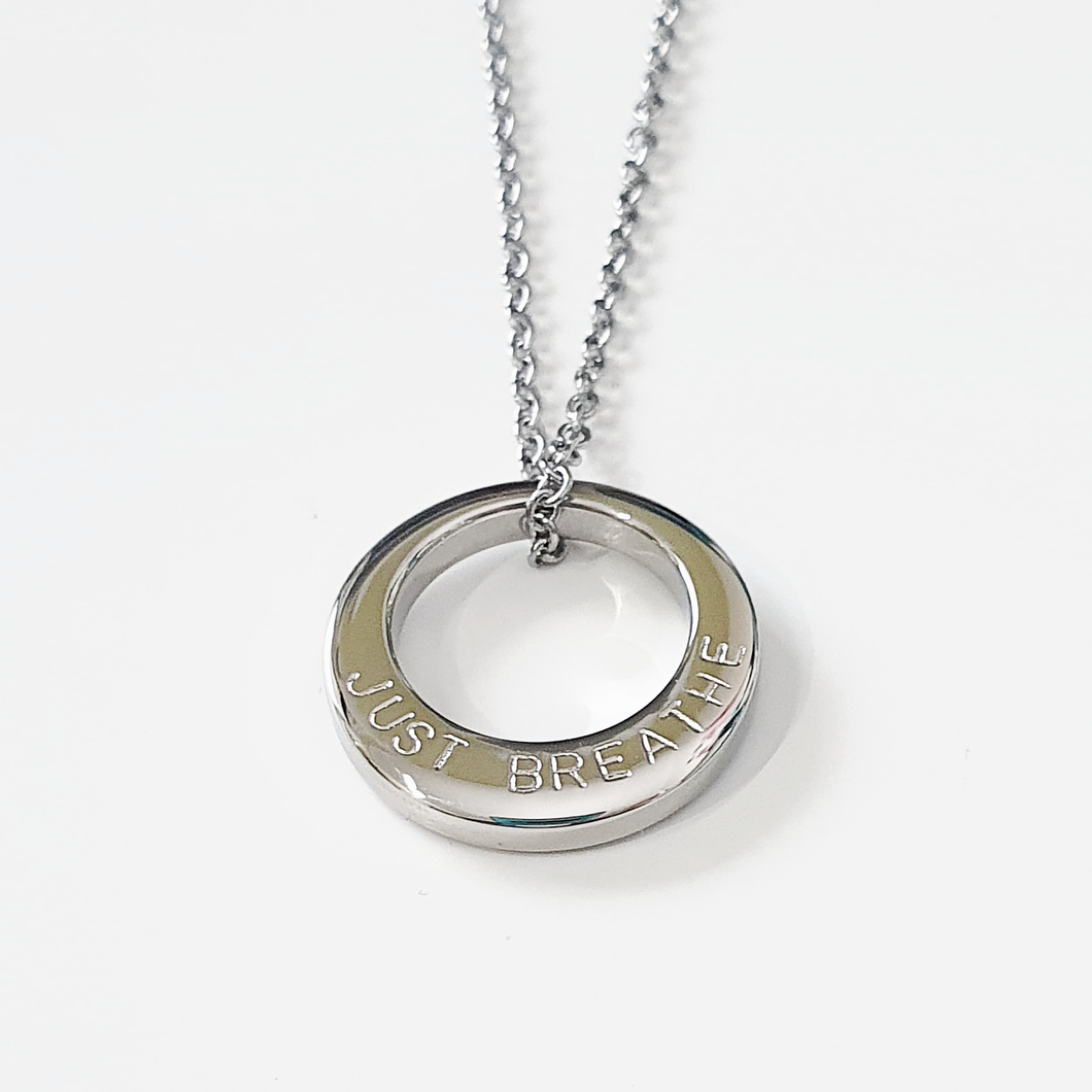 Handstamped Small Circle Necklace (online market sale)