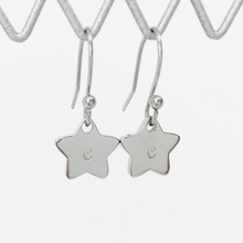 Load image into Gallery viewer, Handstamped Petite Star Drop Earrings | allure style