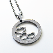 Load image into Gallery viewer, Handstamped Three Hearts Necklace | allure style
