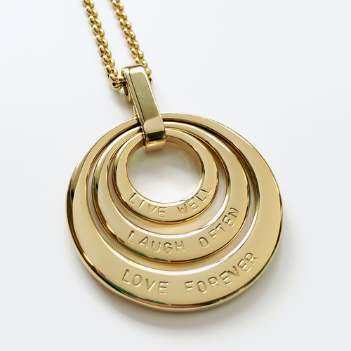 Handstamped Triple Stack Necklace (online market sale)