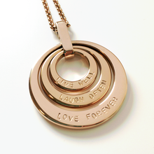 Load image into Gallery viewer, Handstamped Triple Stack Necklace | allure style