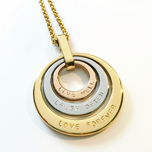 Handstamped Triple Stack Necklace | allure style
