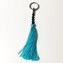 Load image into Gallery viewer, Gemstone tassel keyring | allure style
