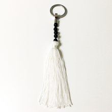 Load image into Gallery viewer, Gemstone tassel keyring