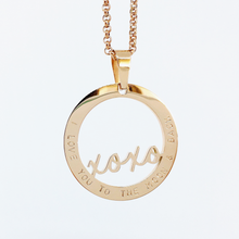 Load image into Gallery viewer, Handstamped XOXO Necklace (online market sale)