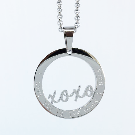 Handstamped XOXO Necklace (online market sale)