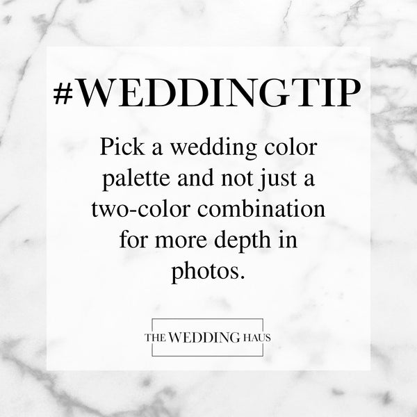 Wedding Tip - Pick a Wedding Color Palette