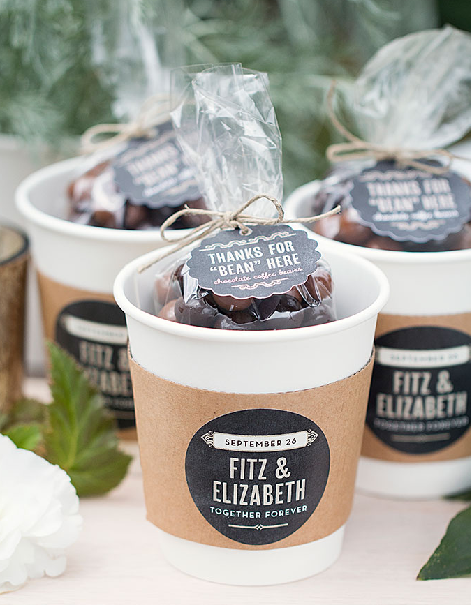 Chocolate Covered Coffee Bean Wedding Favors via The Wedding Haus Premier Wedding Shop