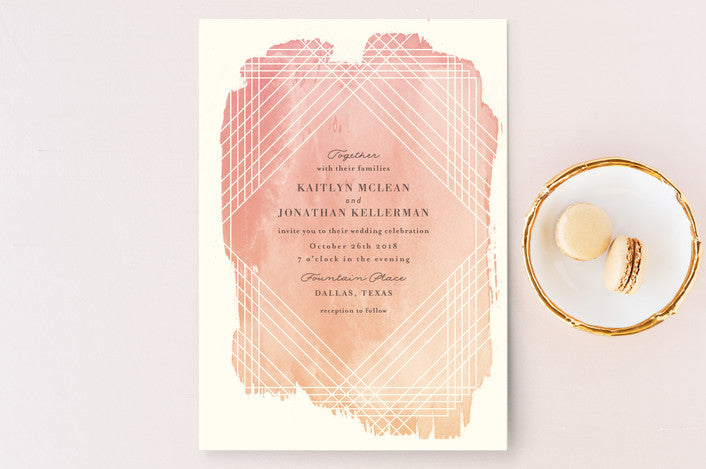 Masked Wash Wedding Invitations Geometric Wedding Invitations from Minted.com via The Wedding Haus