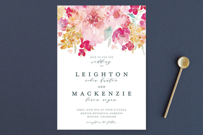 Spring Garden Wedding Invitation from Minted.com via The Wedding Haus
