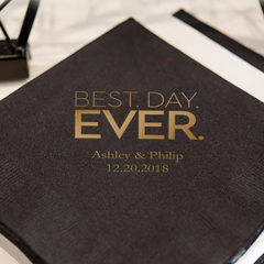 Best Day Ever Cocktail Napkin from The Wedding Haus