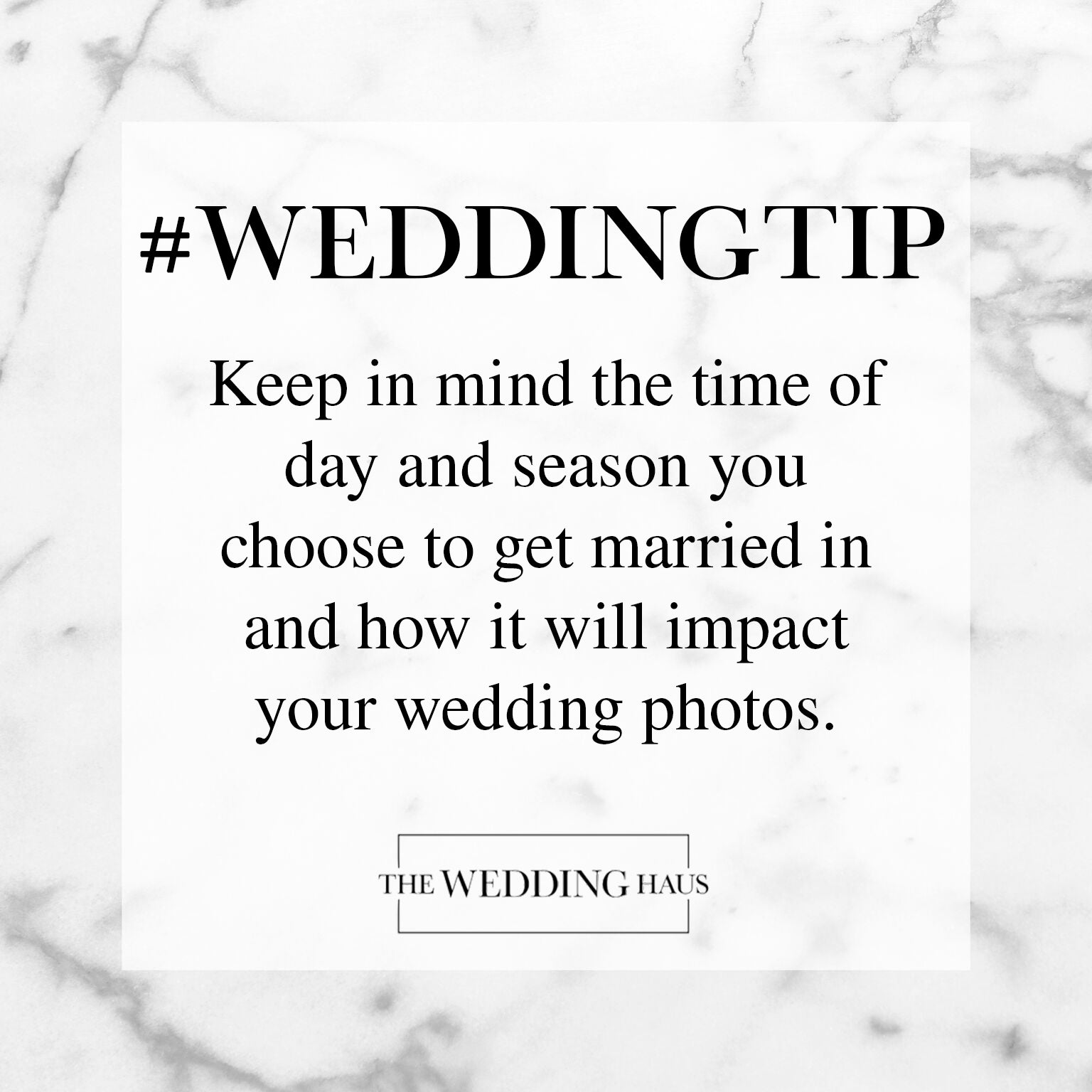 Selecting a Season Wedding Tip from The Wedding Haus