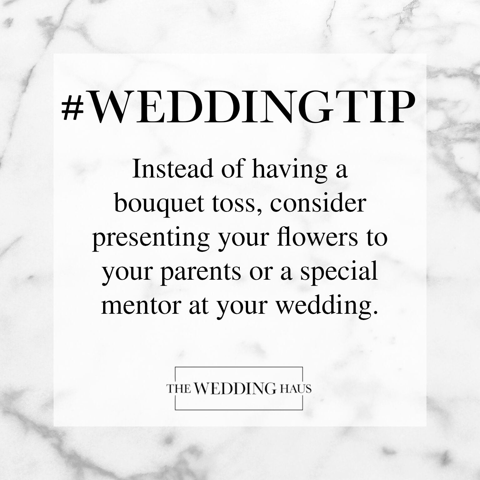 Alternative to Bouquet Toss Wedding Tip from The Wedding Haus