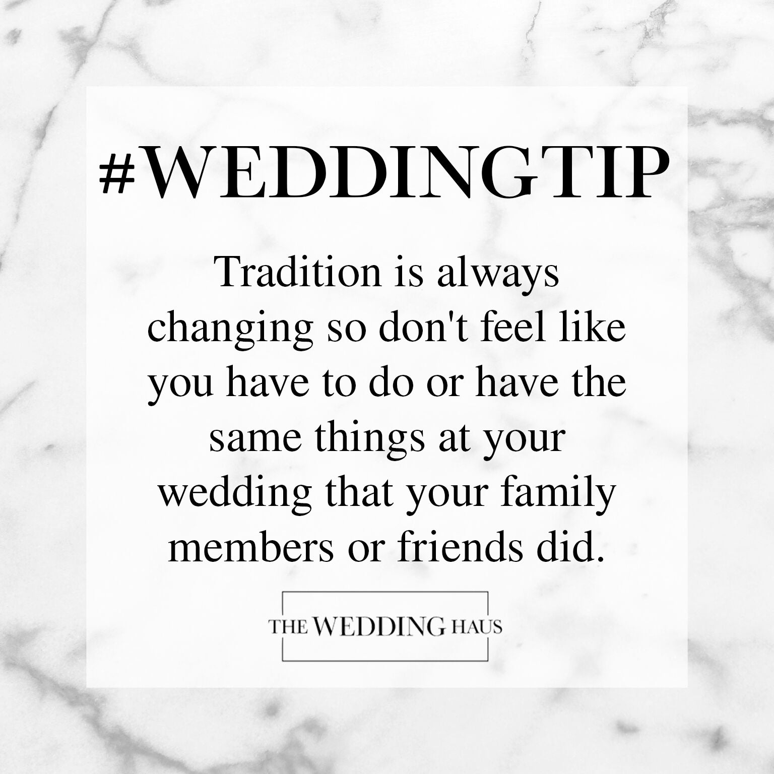 Changing Up Traditions Wedding Tip from The Wedding Haus