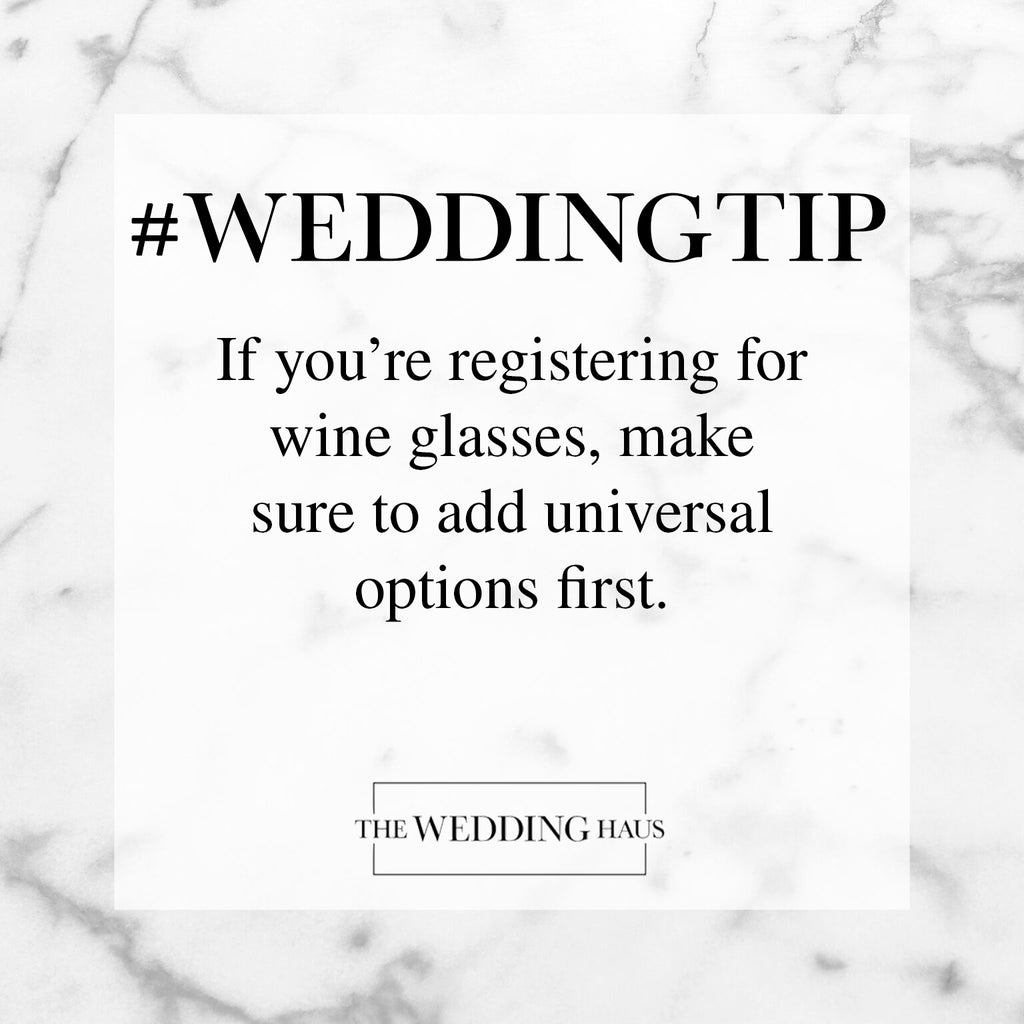 Wedding Tip for Selecting Wine Glasses from The Wedding Haus