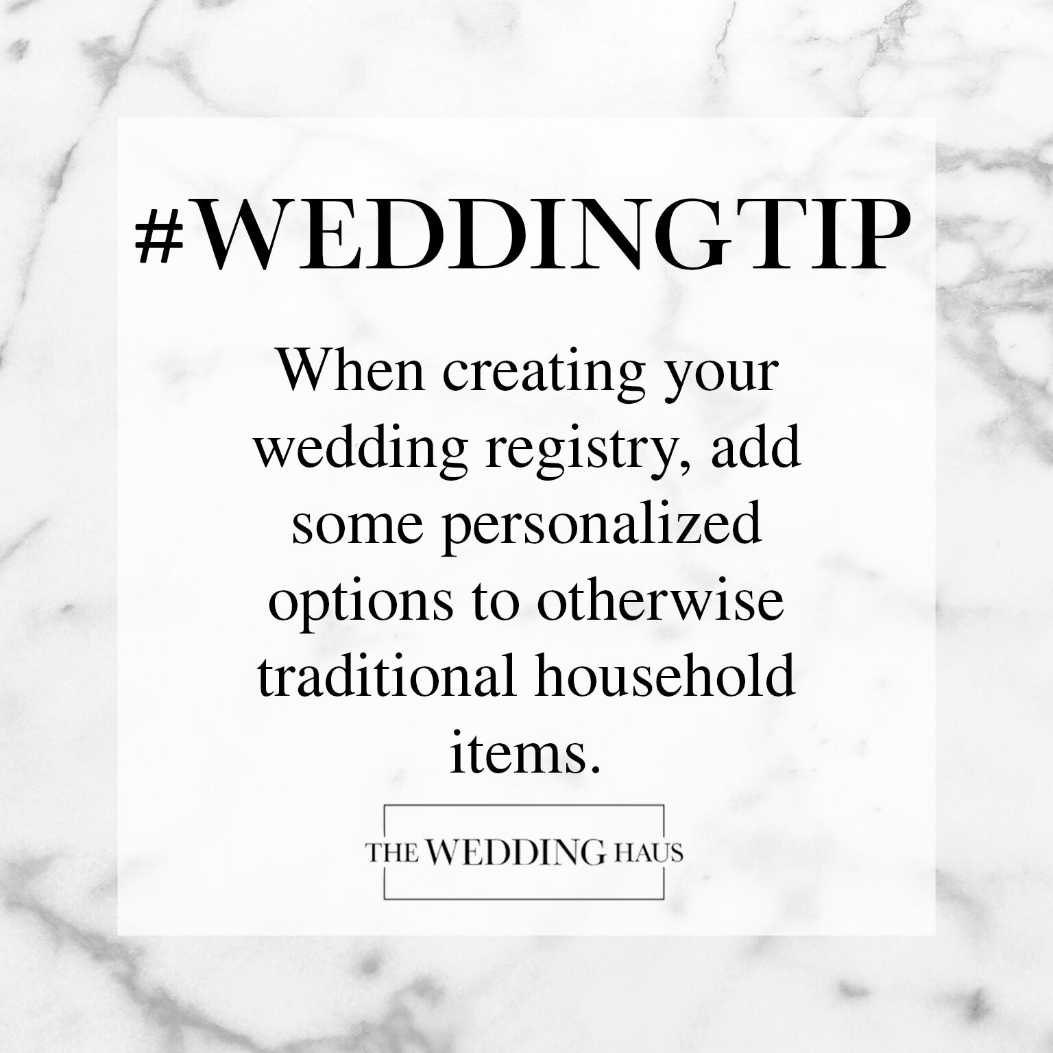 Creating Your Wedding Registry Wedding Tip from The Wedding Haus