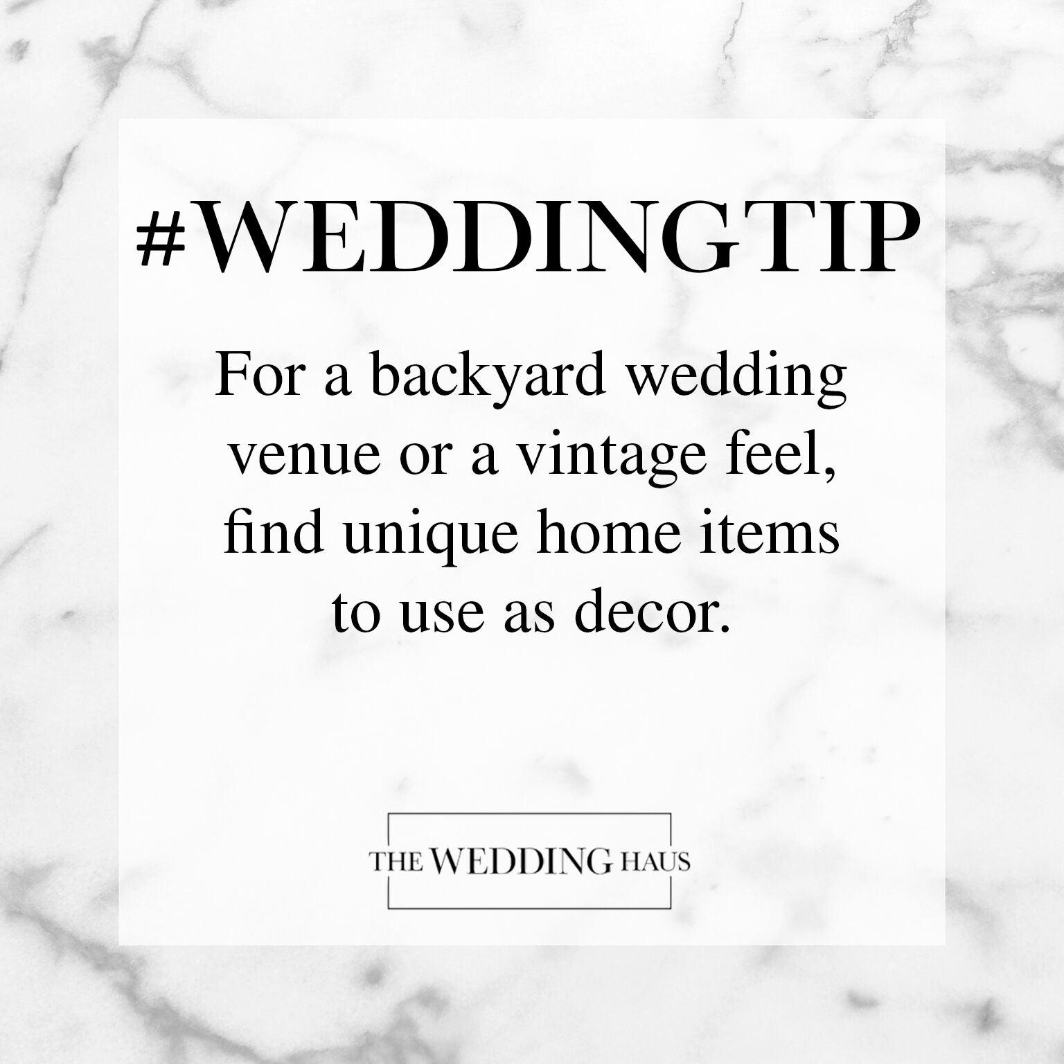 Backyard Wedding Tip from The Wedding Haus