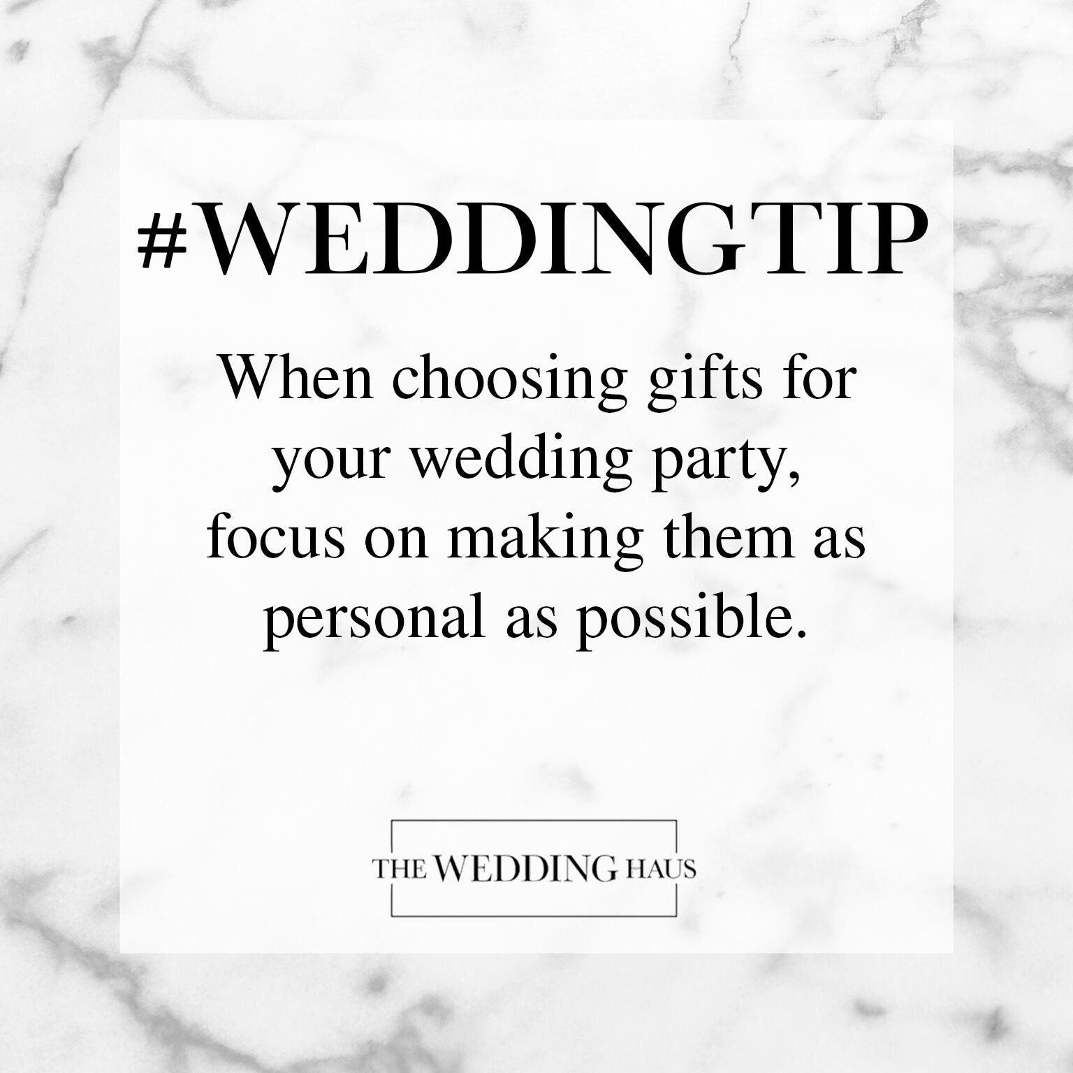 Wedding Party Gifts Wedding Tip from The Wedding Haus