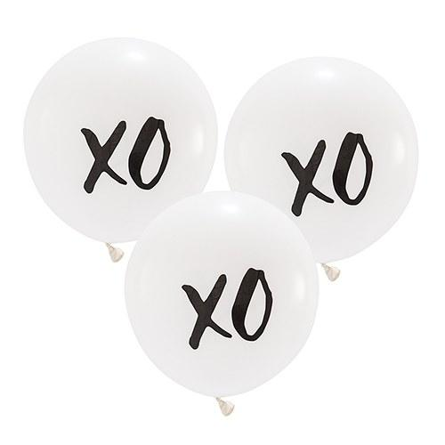 "17"" Large White Round Wedding Balloons - XO-The Wedding Haus"