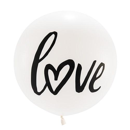 "36"" Jumbo White Round Wedding Balloon - Love-The Wedding Haus"