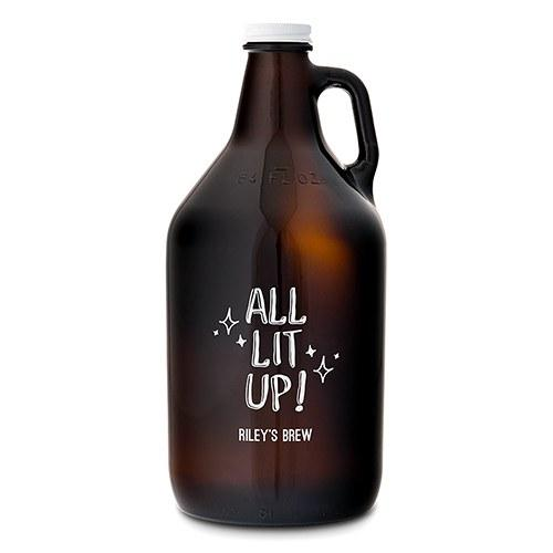 "Amber Glass Growler ""All Lit Up!"" Print-The Wedding Haus"