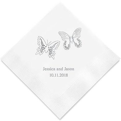 Beautiful Butterflies Printed Paper Napkins (Sets of 80-100)-The Wedding Haus